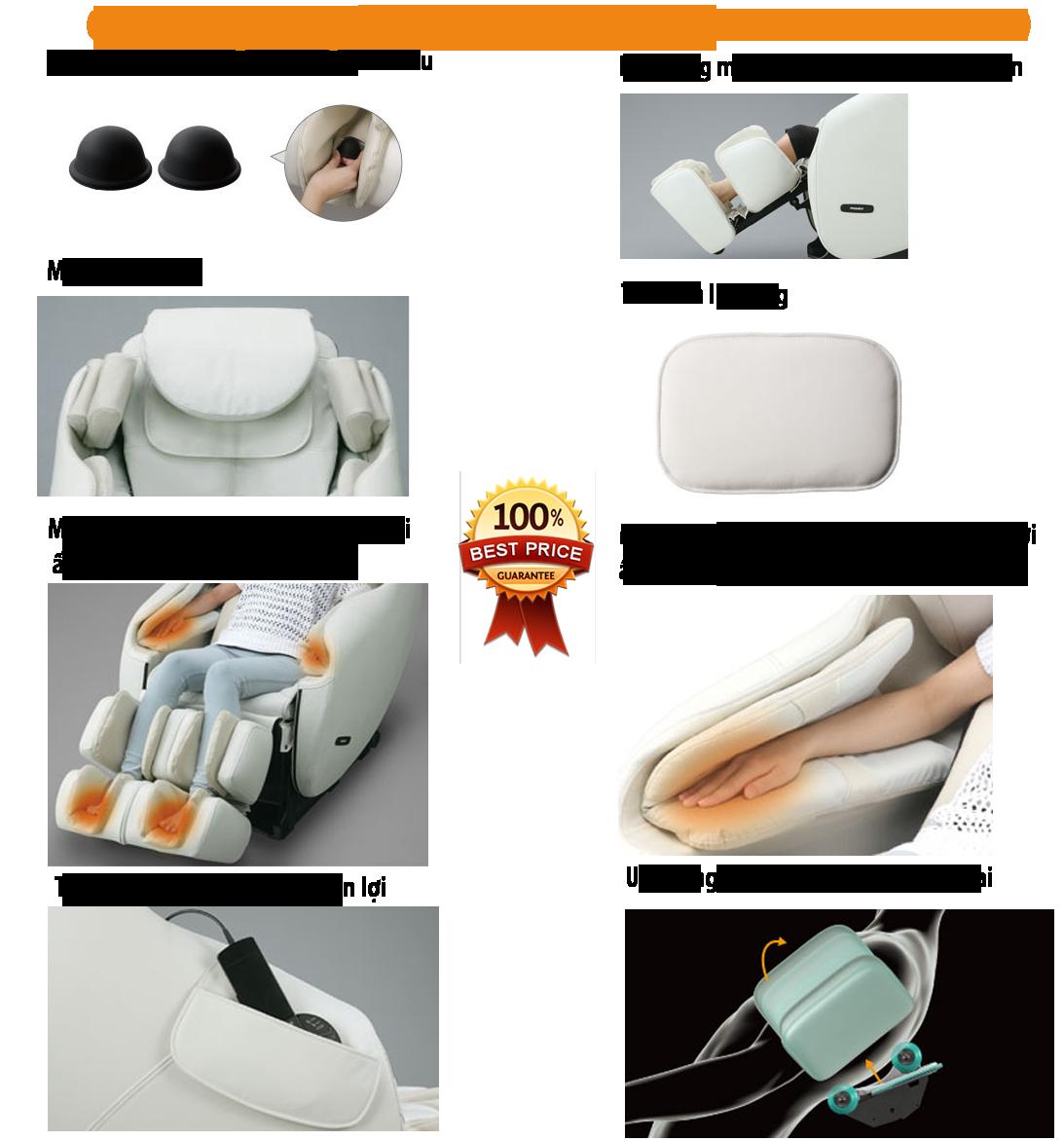 Chức năng massage toàn thân S373D