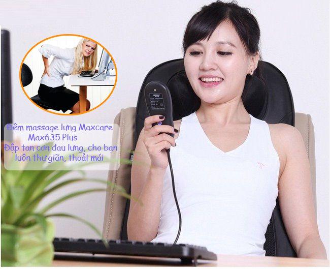 đệm massage lưng lưng cổ gáy Maxcare Max635 Plus