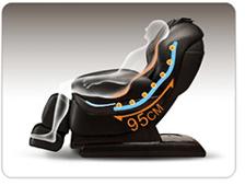 ghế massage toàn thân Maxcare Max684 con lăn dài