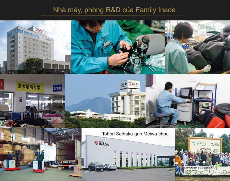 Nhà máy của hãng ghế massage Family Inada tại Nhật